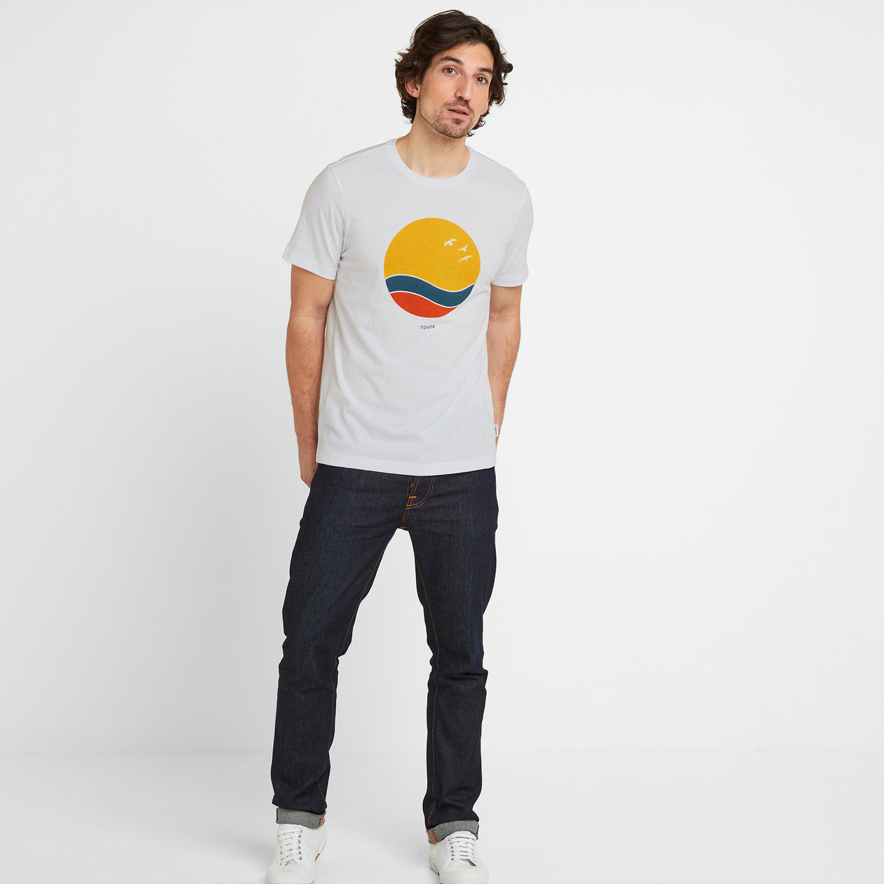Kilcourse Mens Sun Graphic T-Shirt - Optic White image 4