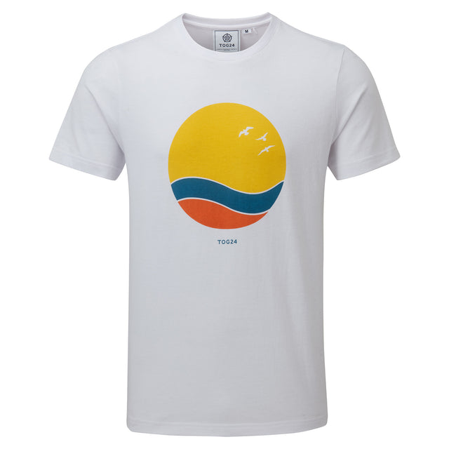 Kilcourse Mens Sun Graphic T-Shirt - Optic White image 3