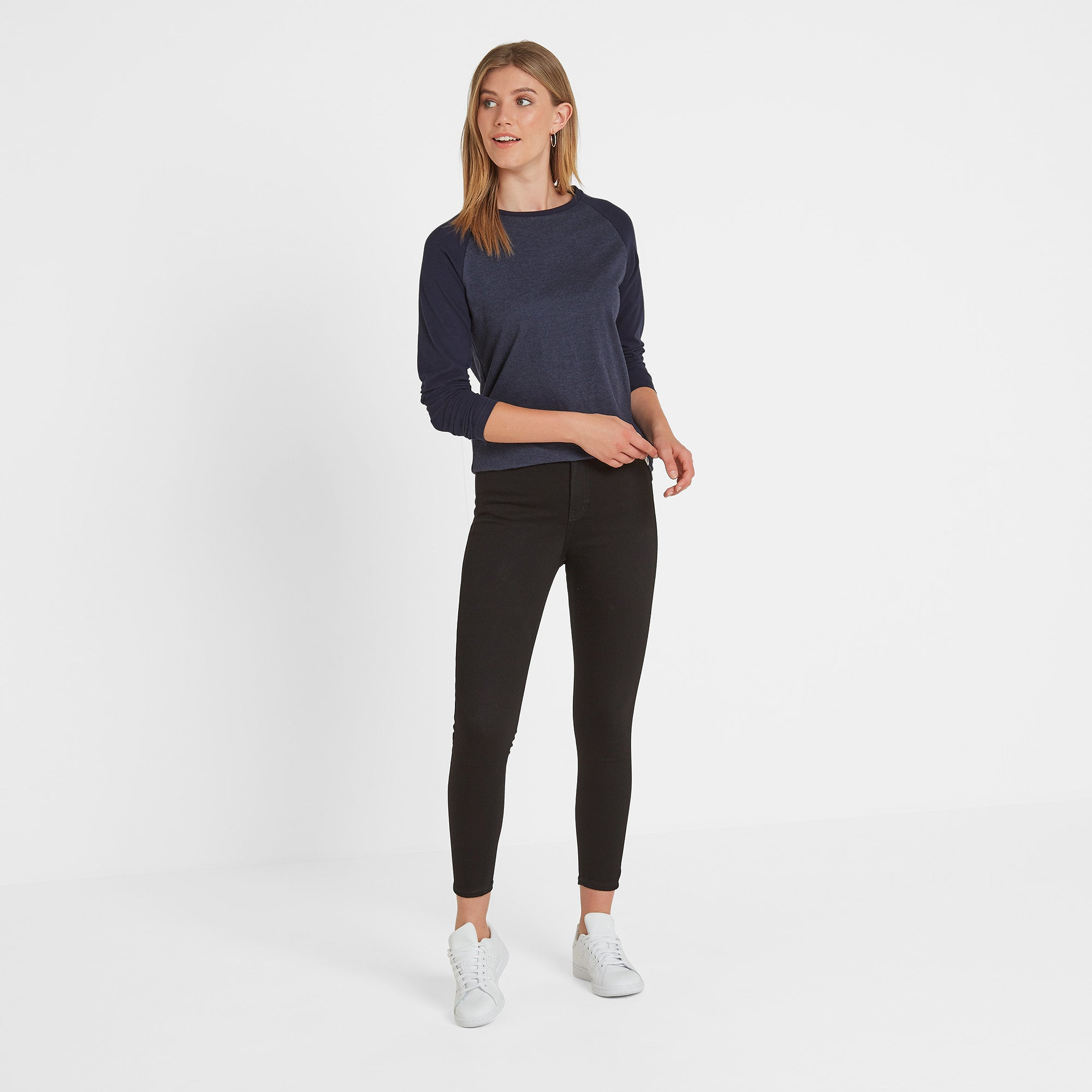 Kilwick Womens Long Sleeve Raglan T-Shirt - Navy/Blue