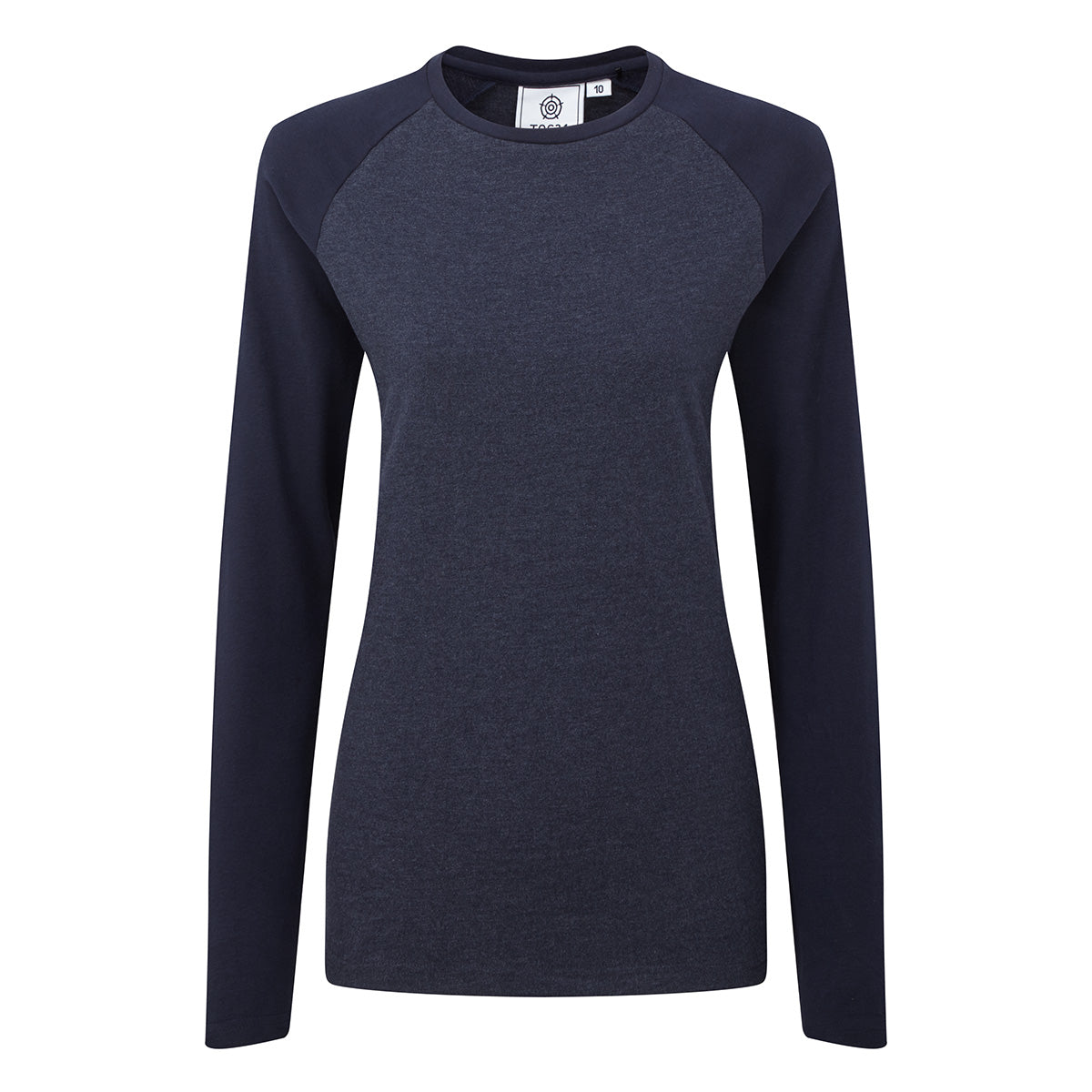 Kilwick Womens Long Sleeve Raglan T-Shirt - Navy/Blue image 4