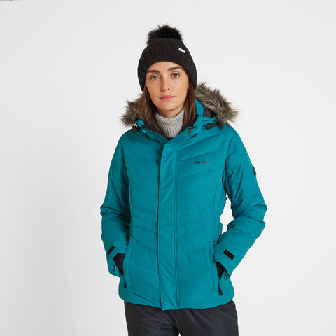Kirby Womens Down Filled Ski Jacket - Topaz