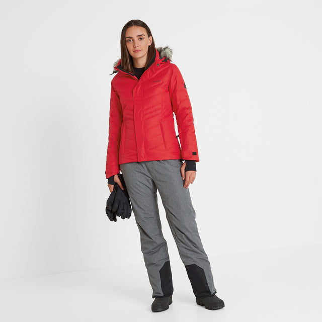 Kirby Womens Down Filled Ski Jacket - Rouge Red image 1