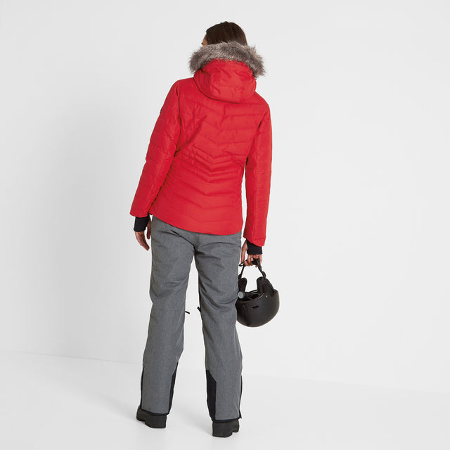 Kirby Womens Down Filled Ski Jacket - Rouge Red image 3