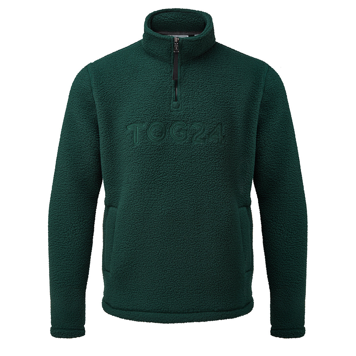 Kirkstall Mens Fleece Zip Neck - Forest image 4