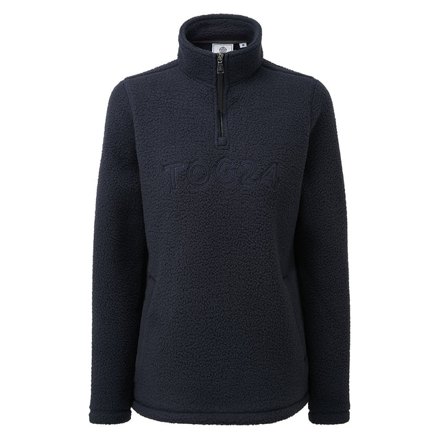 Kirkstall Womens Fleece Zip Neck - Dark Indigo image 3