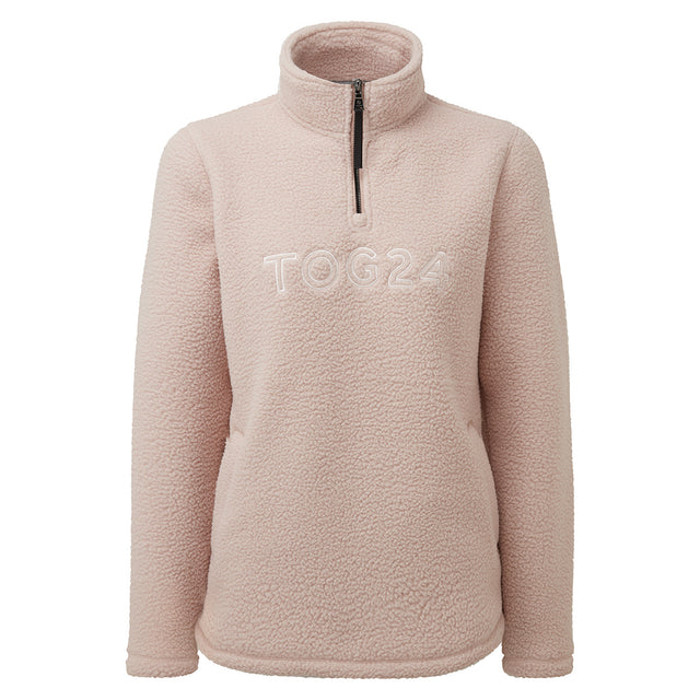 Kirkstall Womens Fleece Zip Neck - Rose Pink image 5