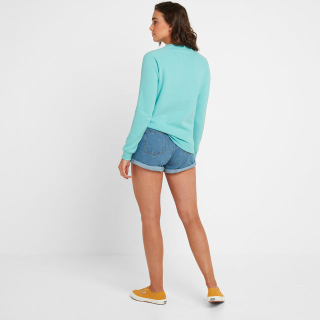 Laney Womens Crew Sweat - Spearmint image 2