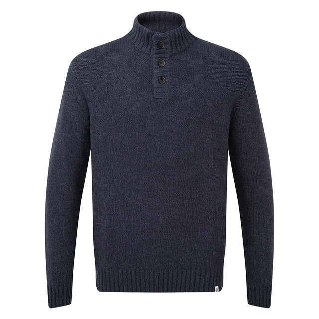 Lawrence Mens Knitted Jumper - Navy Marl image 3