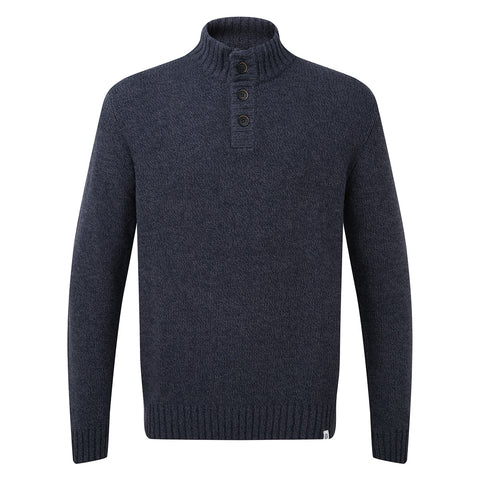 Lawrence Mens Button - Navy Marl