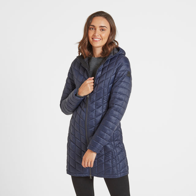 Linton Womens Thermal Jacket - Navy image 1
