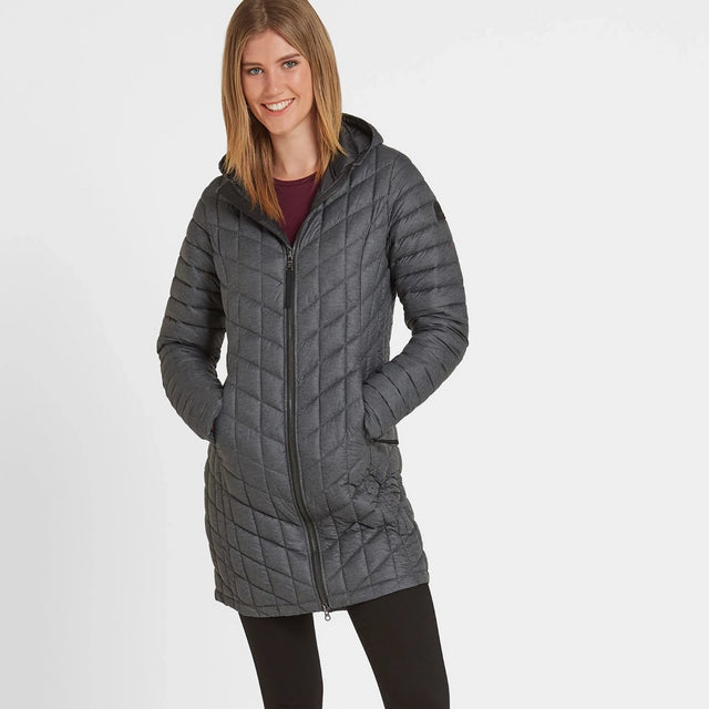 Linton Womens Thermal Jacket - Grey Marl image 2