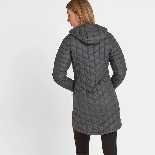 Linton Womens Thermal Jacket - Grey Marl image 3