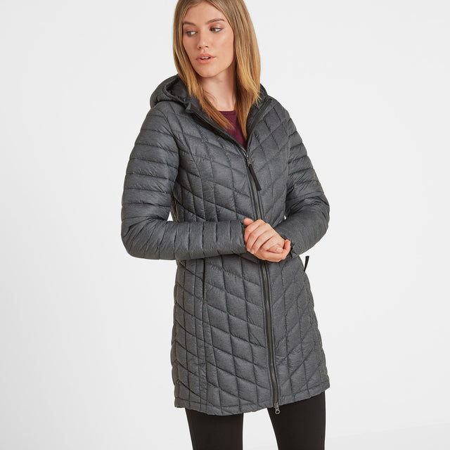 Linton Womens Thermal Jacket - Grey Marl image 1