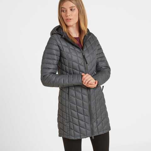 Linton Womens Thermal Jacket - Grey Marl