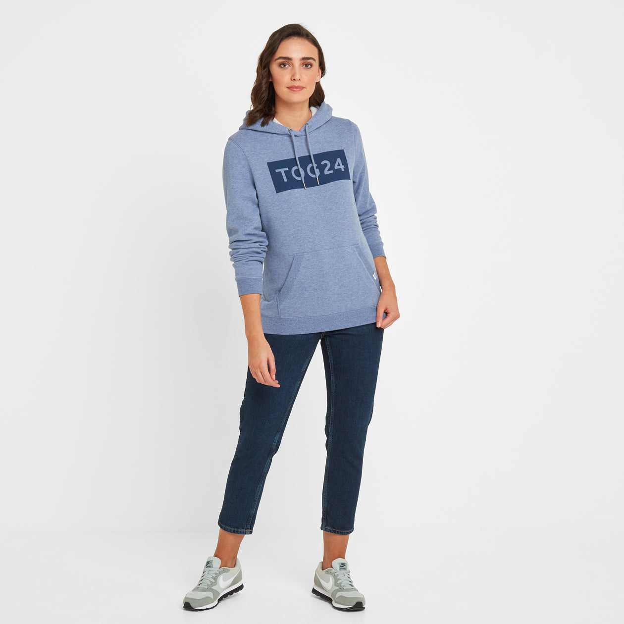 Lola Womens Hoody - China Blue Marl image 4