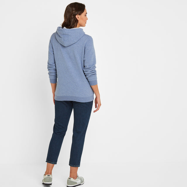 Lola Womens Hoody - China Blue Marl image 2