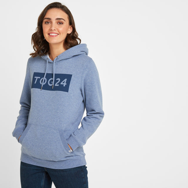 Lola Womens Hoody - China Blue Marl image 1