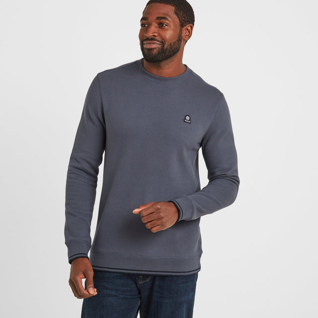 Lowe Mens Crew Neck Jumper - Washed Blue image 1