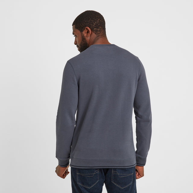 Lowe Mens Crew Neck Jumper - Washed Blue image 2