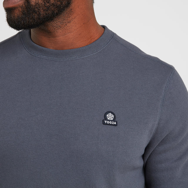 Lowe Mens Crew Neck Jumper - Washed Blue image 5
