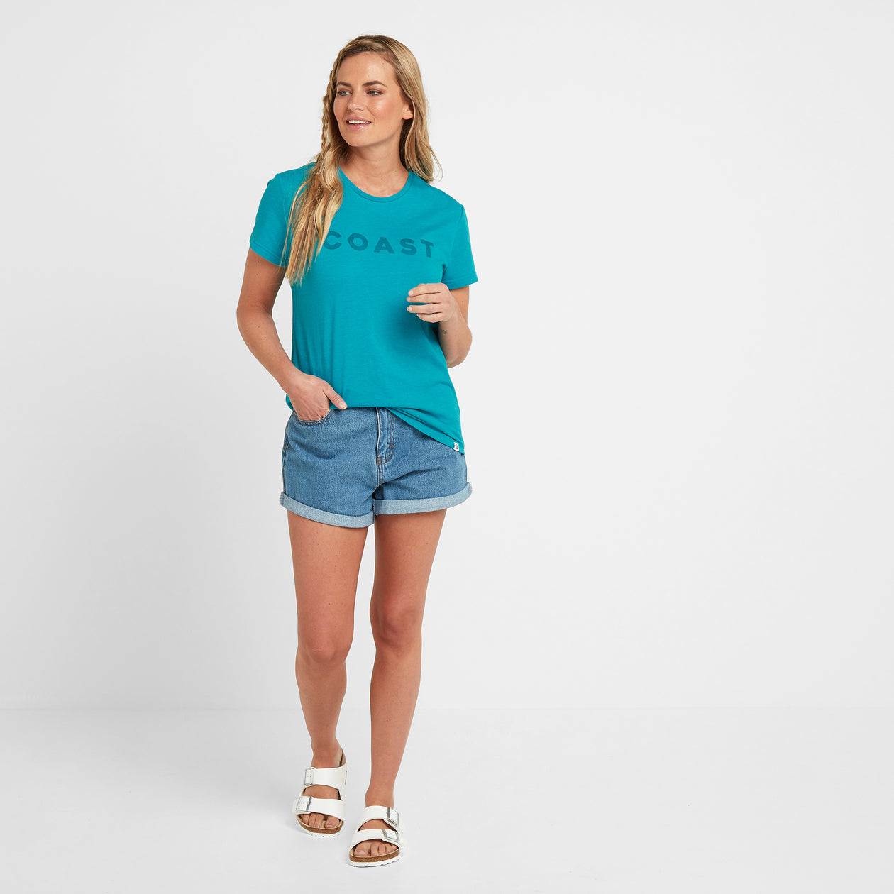 Lycett Womens T-Shirt - Turquoise Marl image 4