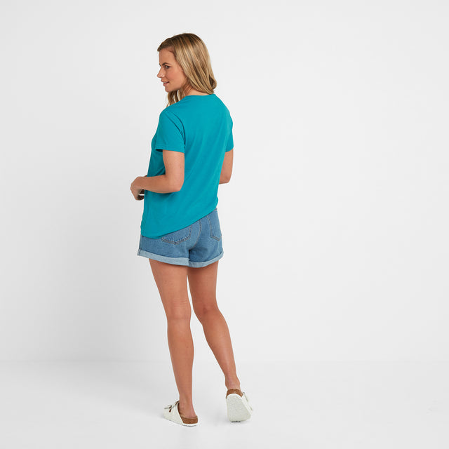 Lycett Womens T-Shirt - Turquoise Marl image 2
