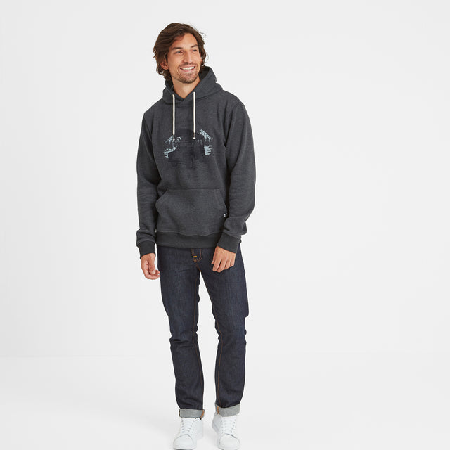 Macoy Mens Hoody Search Engine - Dark Grey Marl image 2
