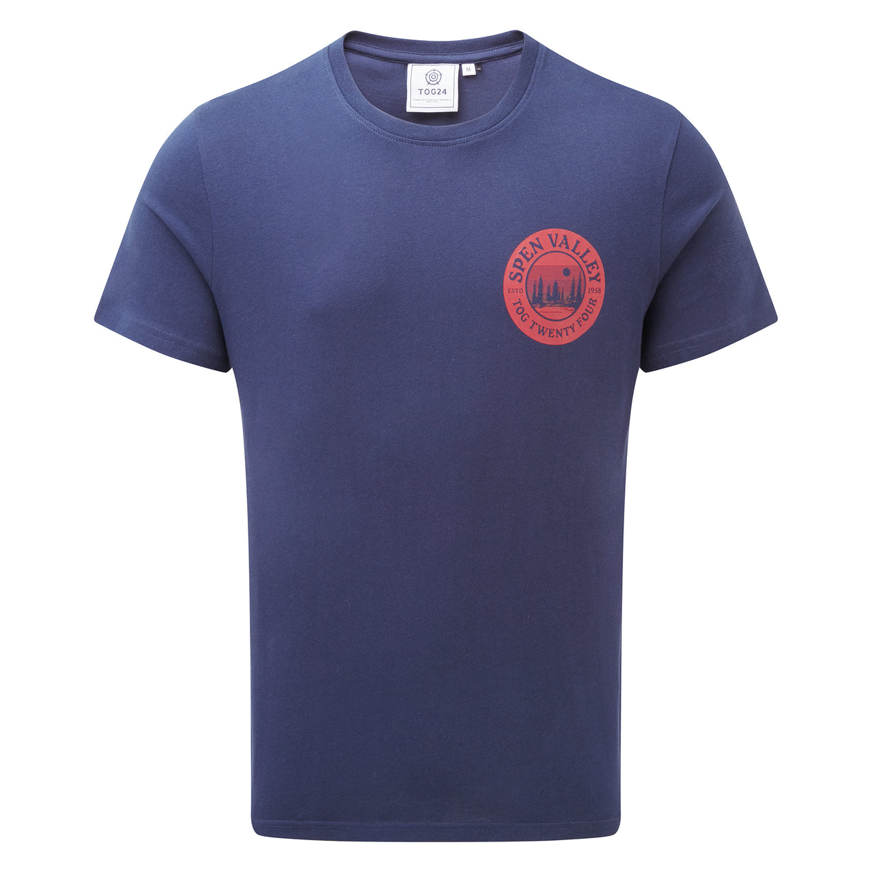 Malton Mens Graphic T-Shirt Spen - Naval Blue image 4
