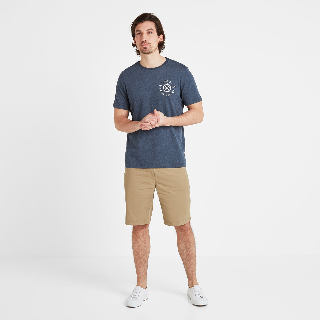 Malton Mens Graphic T-Shirt Circle - Denim Marl image 4