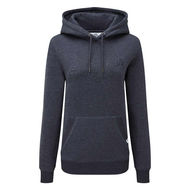 Mappleton Womens Hoody Curly Print - Dark Indigo Marl image 3