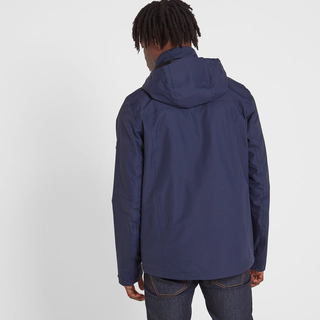 Mawson Mens Waterproof Jacket - Navy image 3