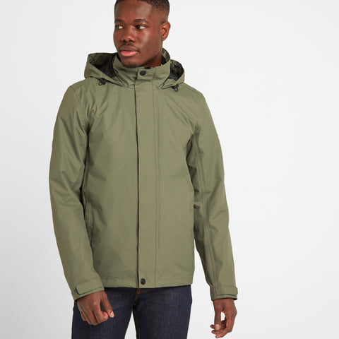 Mawson Mens Waterproof Jacket - Light Khaki