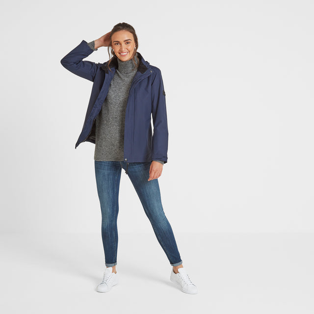 Mawson Womens Waterproof Jacket - Navy image 2