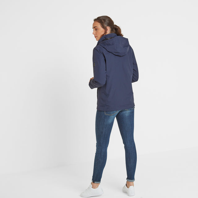Mawson Womens Waterproof Jacket - Navy image 3