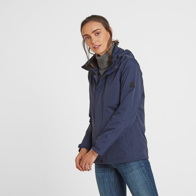Mawson Womens Waterproof Jacket - Navy image 1