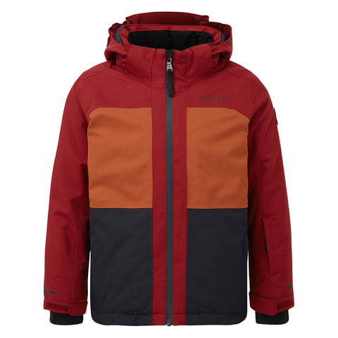Medlock Kids Waterproof Insulated Ski Jacket - Rumba/Navy/Pumpkin