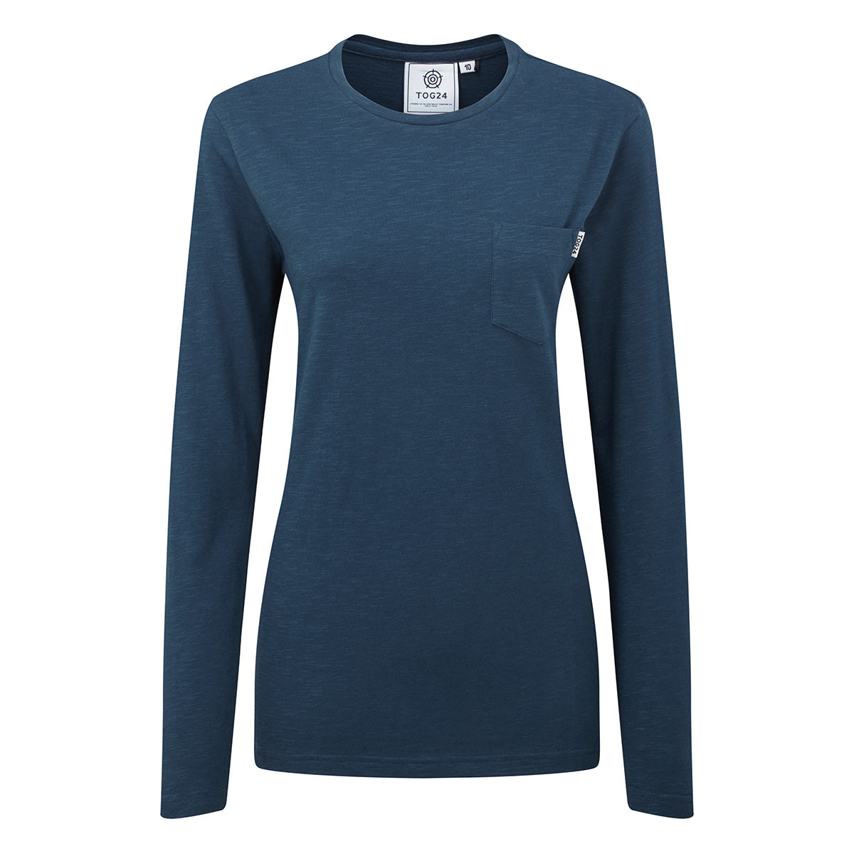 Myrtle Womens Long Sleeve Pocket T-Shirt - Atlantic Blue image 4