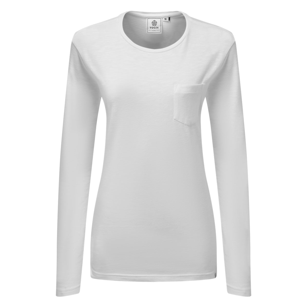 Myrtle Womens Long Sleeve Pocket T-Shirt - White image 4