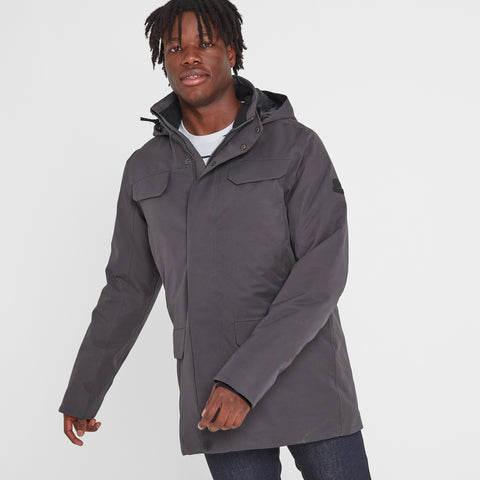 Nawton Mens Waterproof Parka - Coal Grey
