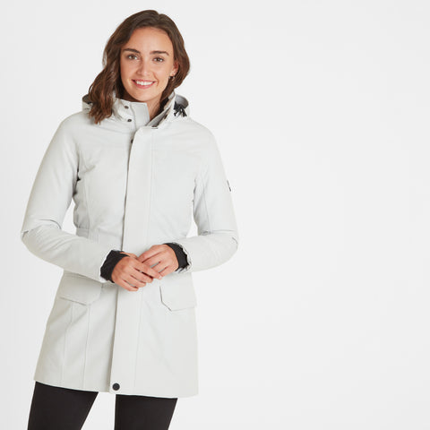 Nawton Womens Waterproof Parka - Ice Grey