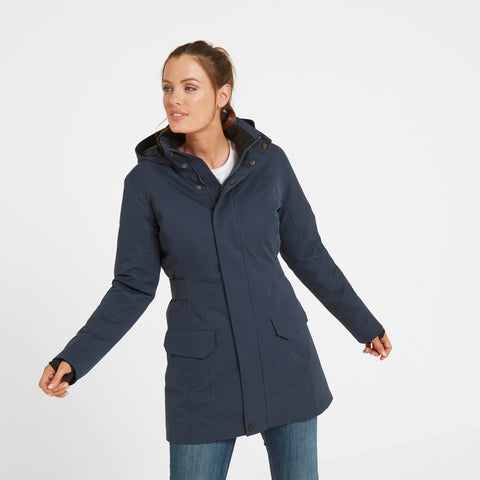 Nawton Womens Waterproof Parka - Dark Indigo