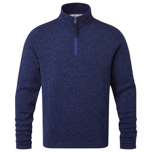 Pearson Mens Knitlook Fleece Zipneck - Royal Blue image 3