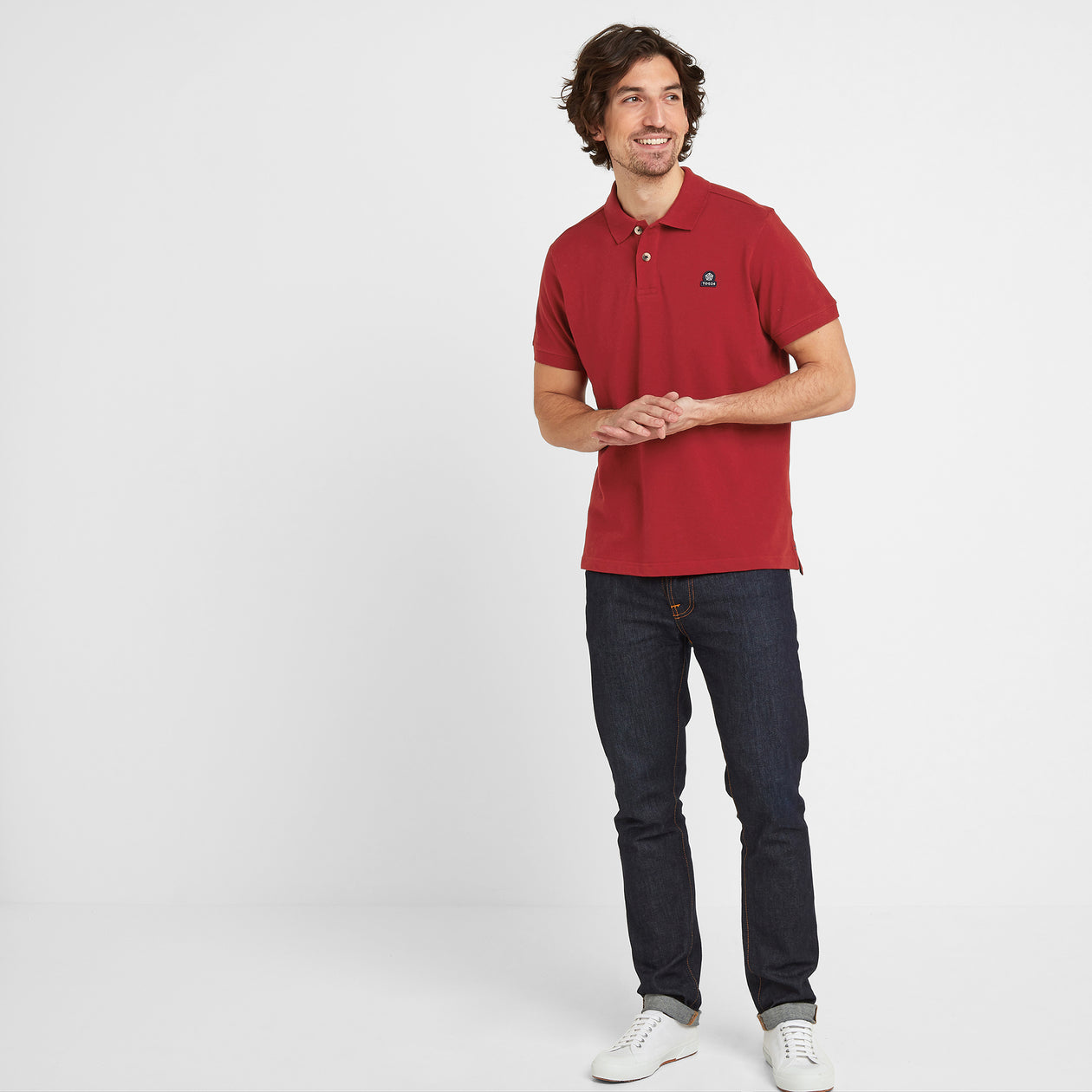 Percy Mens Pique Polo Shirt - Chilli Red image 4