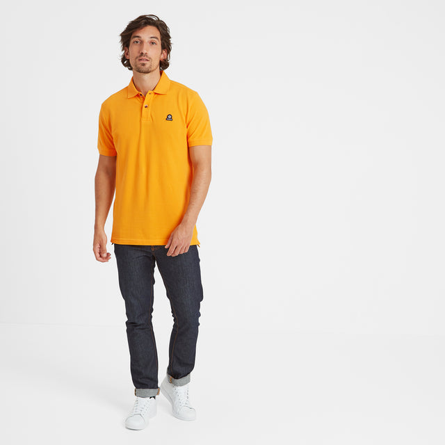 Percy Mens Pique Polo Shirt - Buttercup image 2