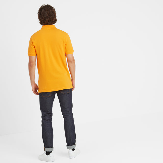 Percy Mens Pique Polo Shirt - Buttercup image 3