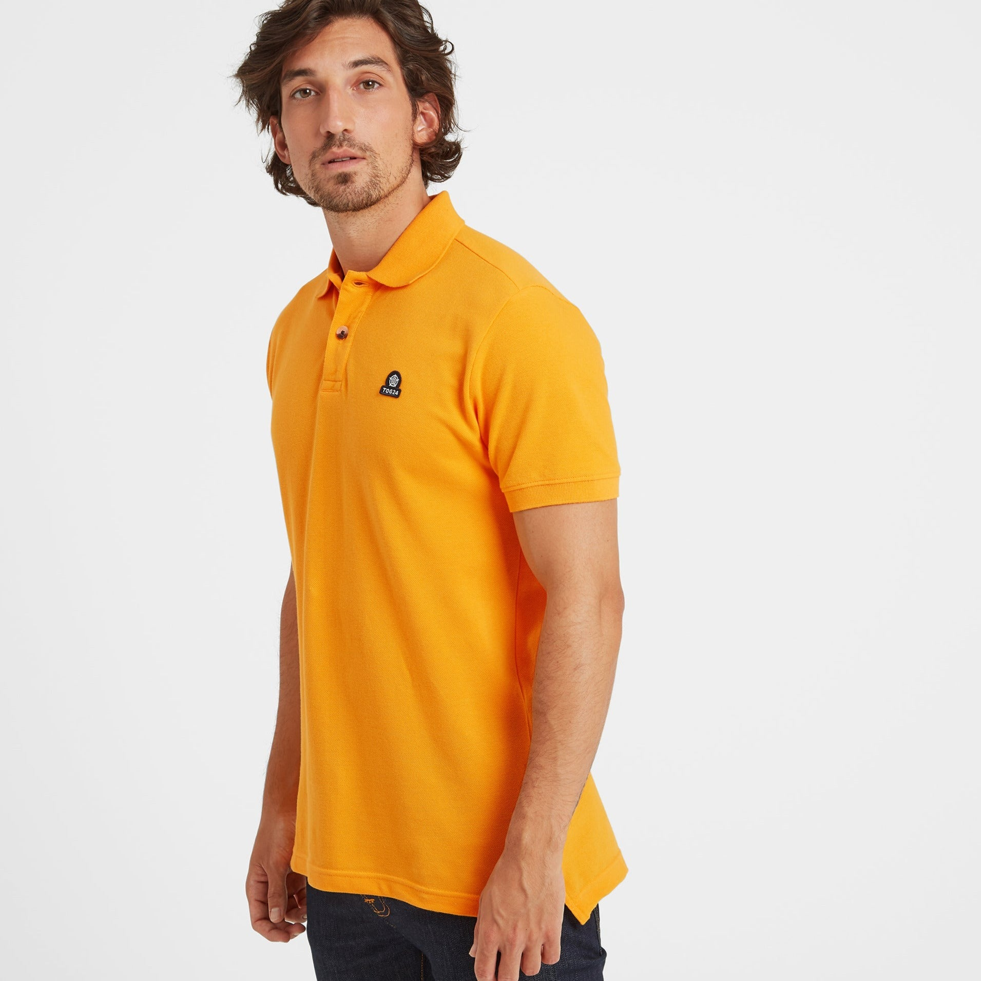 Percy Mens Pique Polo Shirt - Buttercup