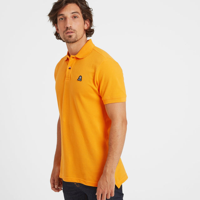 Percy Mens Pique Polo Shirt - Buttercup image 1