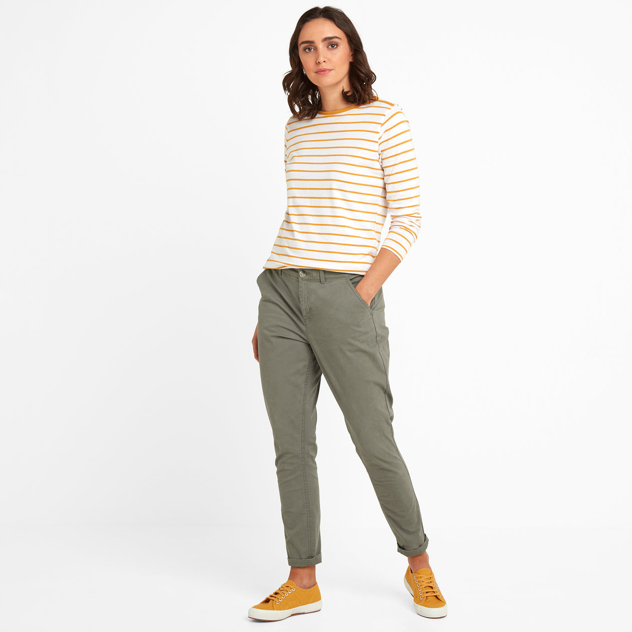 Pickering Womens Trousers Long - Khaki image 4