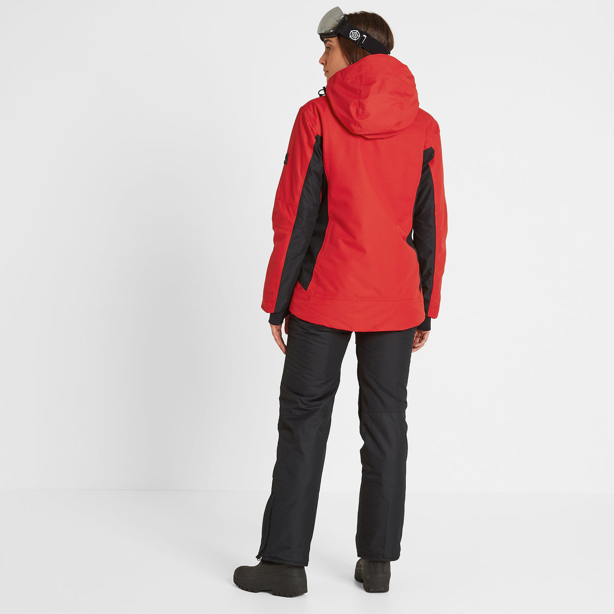Piper Womens Waterproof Insulated Ski Jacket - Rouge Red/Black image 4