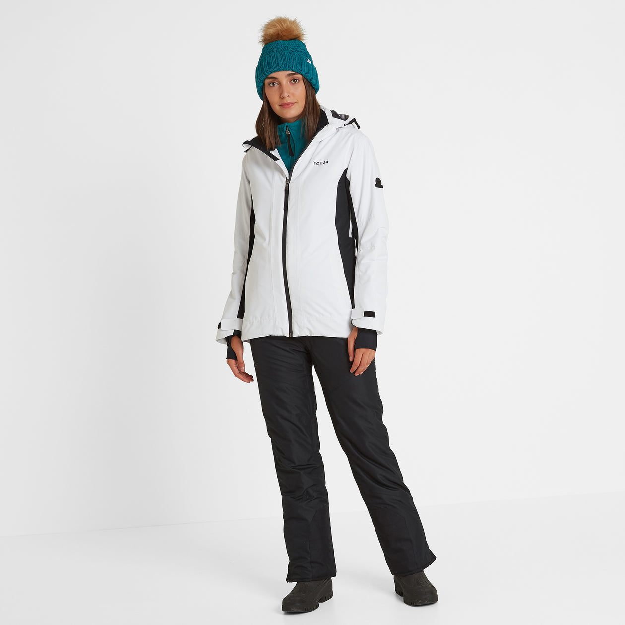 Piper Womens Waterproof Insulated Ski Jacket - White/Black image 4